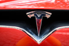 Officina meccanico di Tesla a Francoforte Fotografia Stock