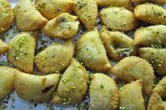 Officina siciliana del forno Cassatella tradizionale della pasticceria immagini stock libere da diritti