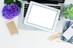 Offise desktop scene Royalty Free Stock Photo