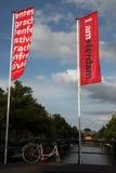 Offizielle Marke der Stadt in Amsterdam, die Niederlande Lizenzfreie Stockfotografie