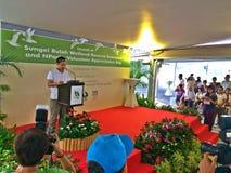 Offizielle Produkteinführung der Sumpfgebiet-Reserve-Erweiterung Sungei Buloh lizenzfreie stockbilder
