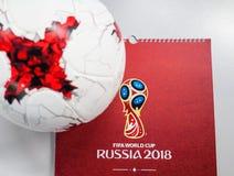 Offizieller Ball der Fußball-Weltmeisterschaft 2018 Lizenzfreie Stockfotografie