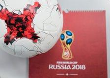 Offizieller Ball der Fußball-Weltmeisterschaft 2018 Stockfoto