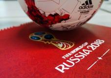 Offizieller Ball der Fußball-Weltmeisterschaft 2018 Lizenzfreie Stockbilder