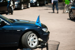Offizieller Besuch nach Straßburg - königlicher Besuch Lizenzfreies Stockbild