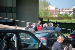 Offizieller Besuch nach Straßburg - königlicher Besuch Stockbild