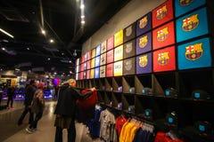 Offizieller Speicher Barcelonas Stockbild