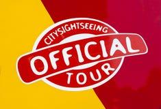 Offizieller Stadt-Sightseeing-Tour Lizenzfreies Stockfoto