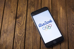 Offizielles Logo der 2016 Sommer-Olympiade Lizenzfreies Stockbild