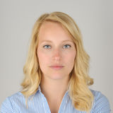 Offizielles Porträt Blondine Stockfoto