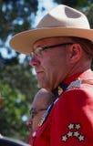Offizier der königlichen kanadischer berittener Polizei Stockfoto