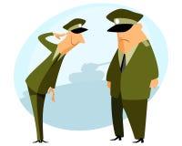 Offizier führt Militärgruß durch Lizenzfreie Stockfotos