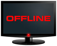Offline. Internet concept. PC screen isolated on with background Royalty Free Stock Image