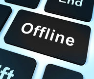 Offline Key Shows Internet Communication Status Royalty Free Stock Image