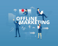 Offline marketing typographic poster Stock Image