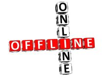offline-online-korsord 3D Royaltyfri Bild