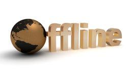 offline-ord Fotografering för Bildbyråer