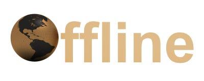 offline-ord Royaltyfri Bild