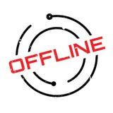 Offline-rubber stämpel Arkivfoto
