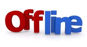 Offline sign Royalty Free Stock Photos