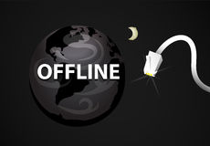 Offline Web World Royalty Free Stock Photography