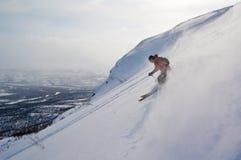 Offpist Skifahren Lizenzfreie Stockbilder