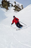 Offpist skiing Royalty Free Stock Image