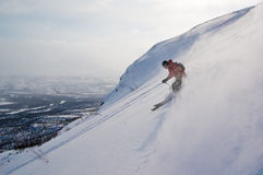 Offpist skiing. In northern Sweden. Nuolja, Abisko, Lappland, Sweden royalty free stock images