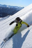 Offpiste skiing Royalty Free Stock Photography