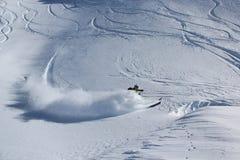 Offpiste skiing Stock Photo