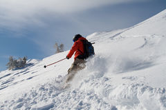 Offpiste skiing Stock Photos