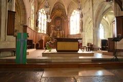 Offranville, Γαλλία - 17 Ιουλίου 2015: παράθυρο της εκκλησίας Στοκ φωτογραφία με δικαίωμα ελεύθερης χρήσης