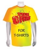 offre à des chemises t spécial Images stock