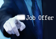 Offre d'emploi Photo stock