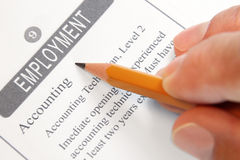Offre d'emploi classifiée Photo libre de droits