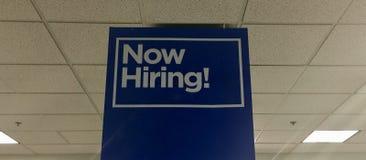 Offre d'emploi maintenant de location photographie stock