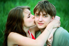 Offre de baiser Image libre de droits