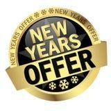 Offre de nouvelles années de bouton Photo stock