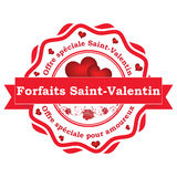 Offre française de jour du ` s de Valentin de saint Photos stock