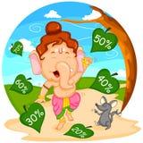 Offre heureuse de vente de Ganesh Chaturthi Image libre de droits