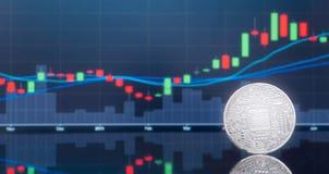 Offre initiale de pièce de monnaie (ICO) et cryptocurrency illustration libre de droits