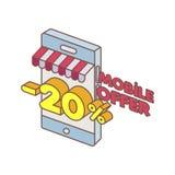 Offre spéciale de téléphone intelligent sur la ligne Image libre de droits