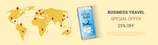 Offre spéciale de voyage d'affaires conception horizontale d'affiche de vente saisonnière d'agence de Template Banner, Tourism Co Photos stock