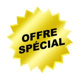 Offre Special Sign. Yellow offre special sign - web button - internet design stock illustration