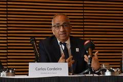 Offre unie pour accueillir le délégué 2016 de _usa de coupe du monde de la FIFA Images libres de droits