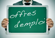 Offres d'emploi, jobs in french Stock Images