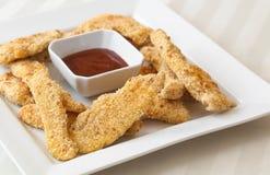Offres panées de poulet Photo stock