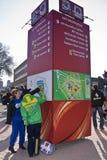 Offrez le support - la carte de travail 2010 de la FIFA Images stock