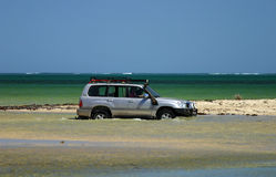 Offroad 4x4 vehicle on Beach Stock Photo