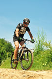 Offroad Bicyclist Royalty Free Stock Photos